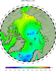 DMI Oct 23B pressure mslp_latest.big