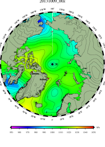 DMI Oct 9 pressure mslp_latest.big